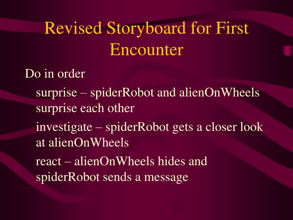 Revised Storyboard for First Encounter