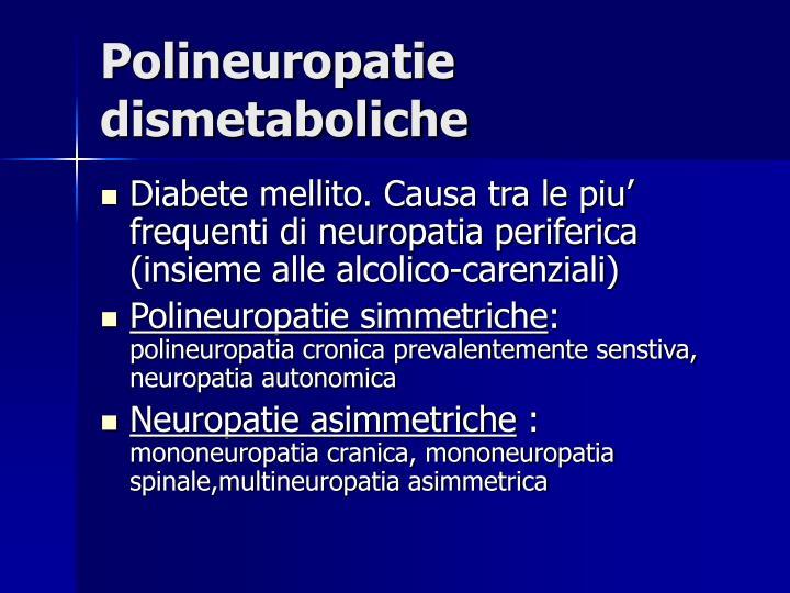 Polineuropatie dismetaboliche