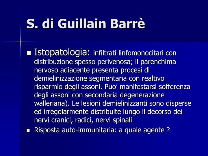 S. di Guillain Barrè