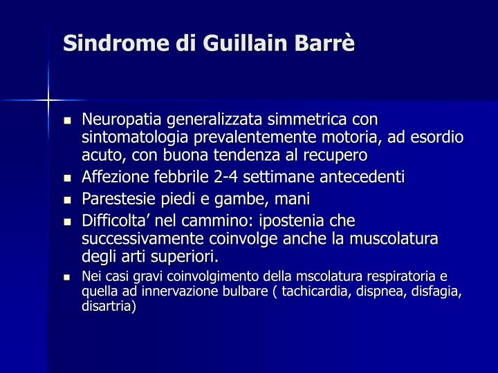 Sindrome di Guillain Barrè