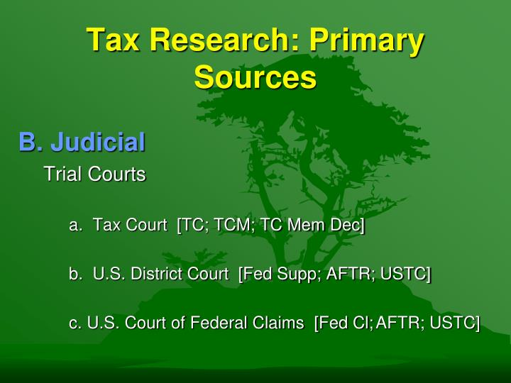 Tax research primary sources3