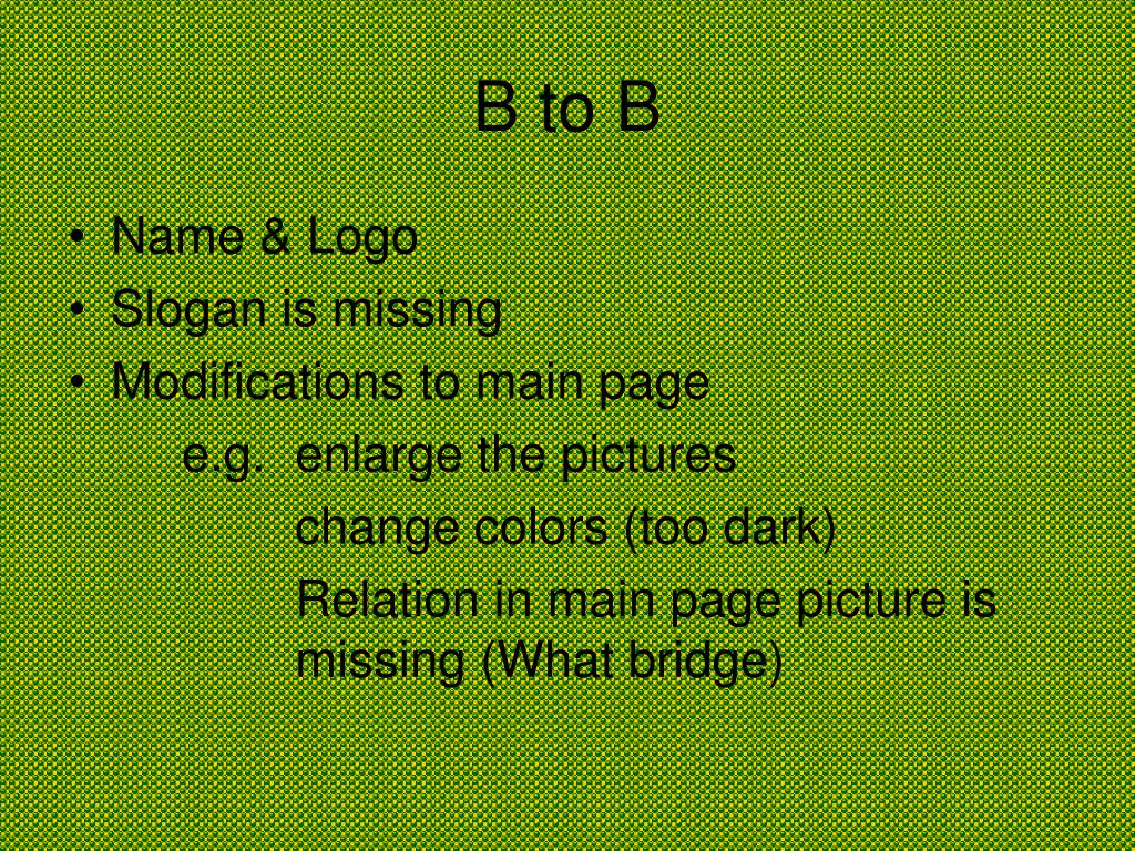 B to B