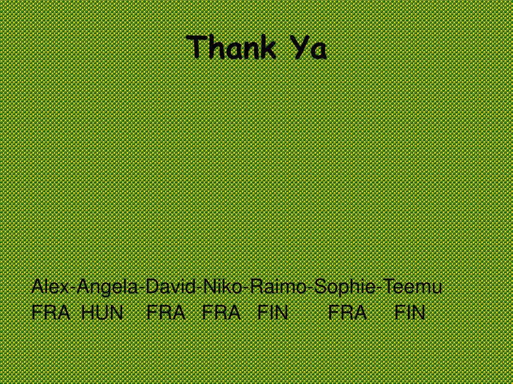 Thank Ya