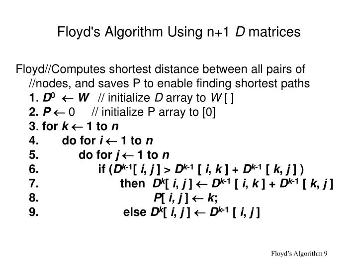 floyds algorithm I'm currently trying to figure out which path finding algorithm to use in my game it seems most people prefer a and i don't quite get it.