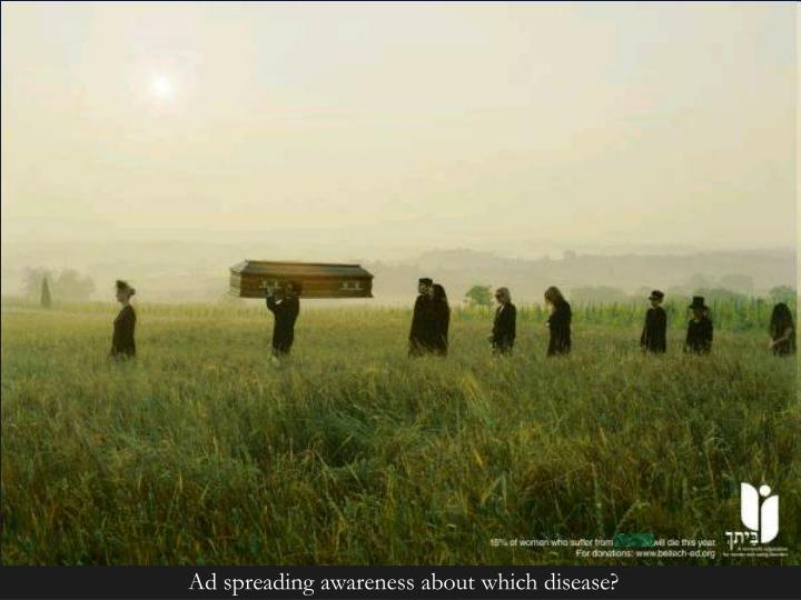 Ad spreading awareness about which disease?
