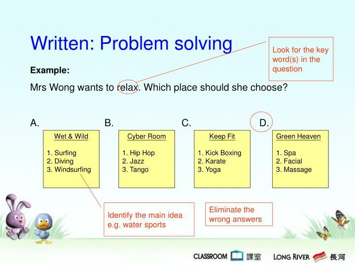 Written: Problem solving
