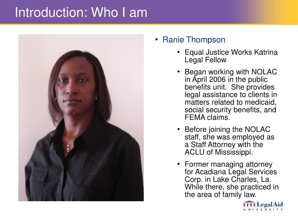Introduction: Who I am