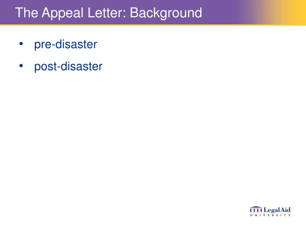 The Appeal Letter: Background