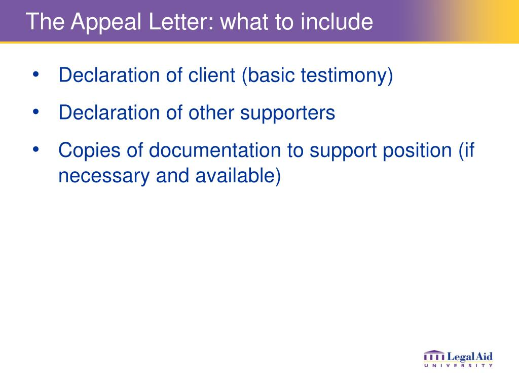 The Appeal Letter: what to include
