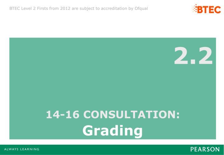 14-16 CONSULTATION: