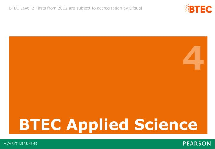 BTEC Applied Science