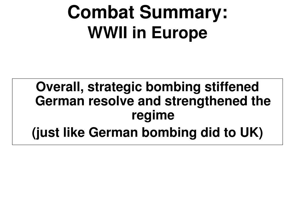 Combat Summary: