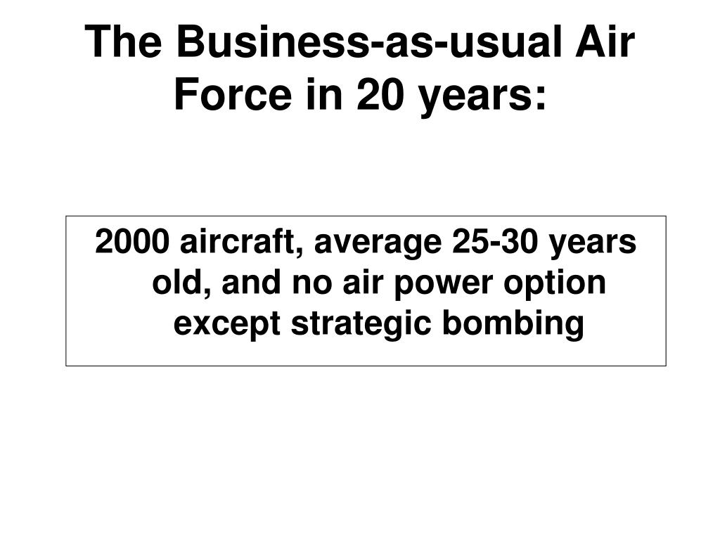 The Business-as-usual Air Force in 20 years: