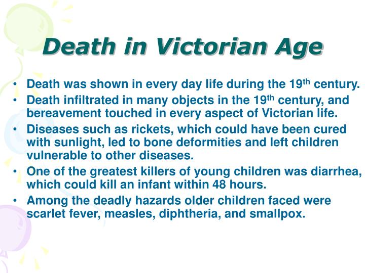 Death in Victorian Age
