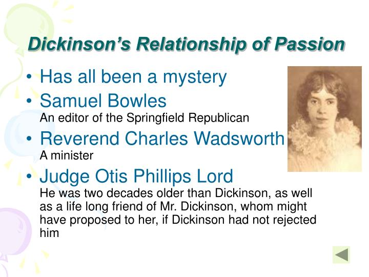 Dickinson's Relationship of Passion