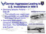 german aggression leading to u s involvement in ww ii
