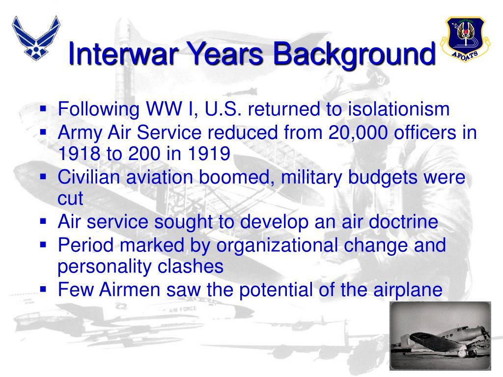 Interwar Years Background