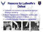 reasons for luftwaffe s defeat