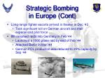 strategic bombing in europe cont