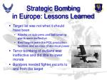 strategic bombing in europe lessons learned