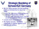strategic bombing of schweinfurt germany