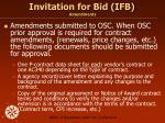 invitation for bid ifb amendments