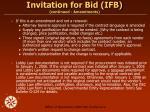 invitation for bid ifb continued amendments17