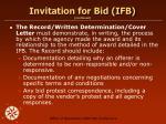 invitation for bid ifb continued13