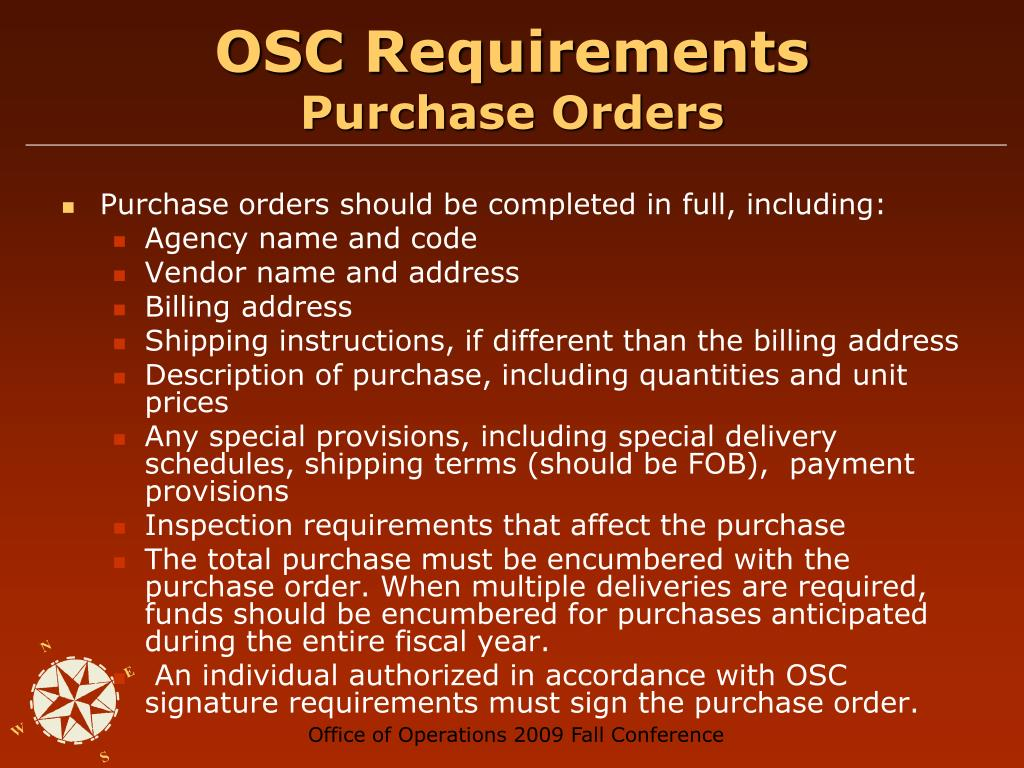 OSC Requirements