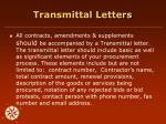 transmittal letters