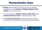 pharmacokinetics doses