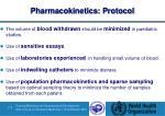 pharmacokinetics protocol