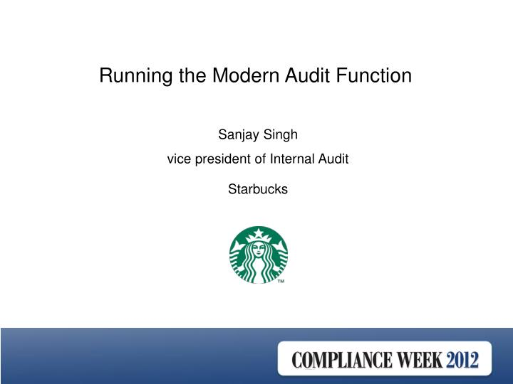 Running the Modern Audit Function