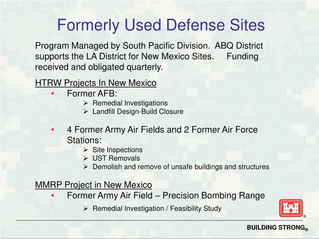 Formerly Used Defense Sites