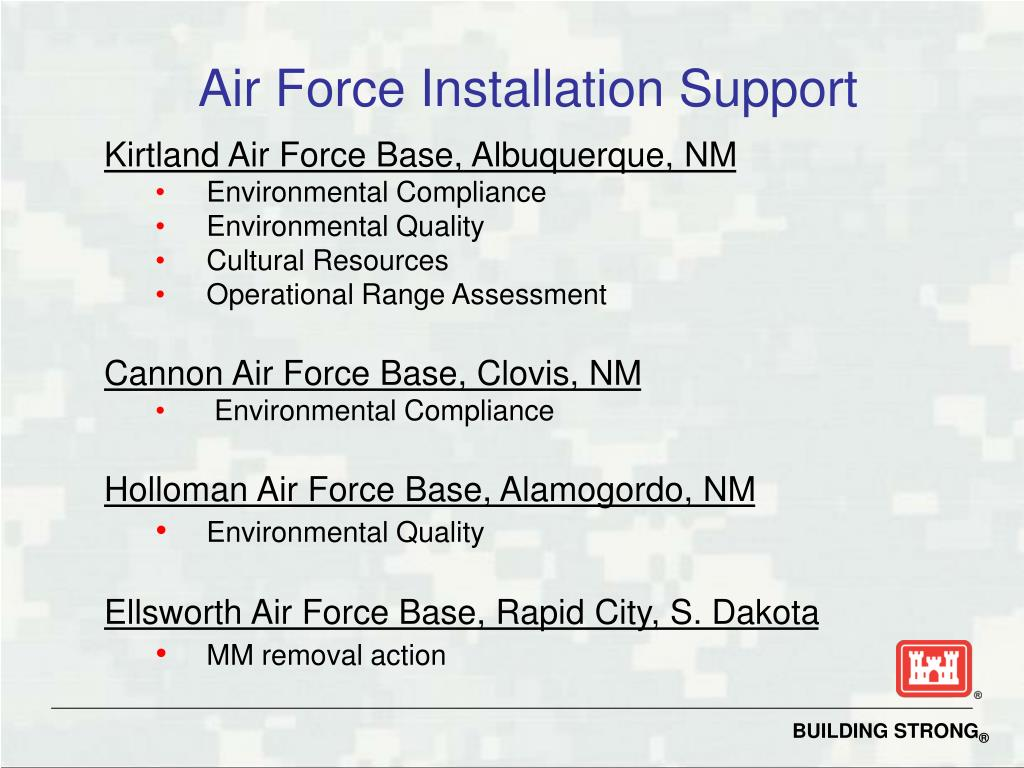 Air Force Installation Support