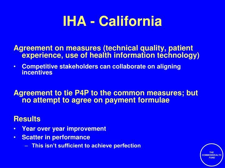 IHA - California