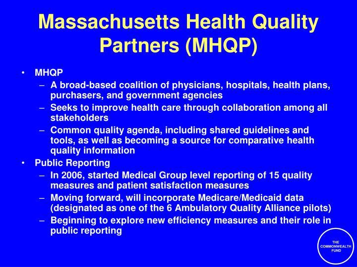 Massachusetts Health Quality Partners (MHQP)