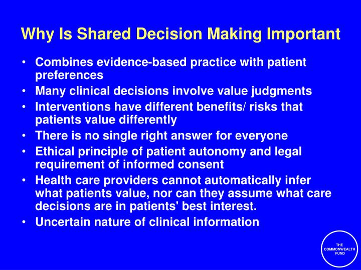 Why Is Shared Decision Making Important