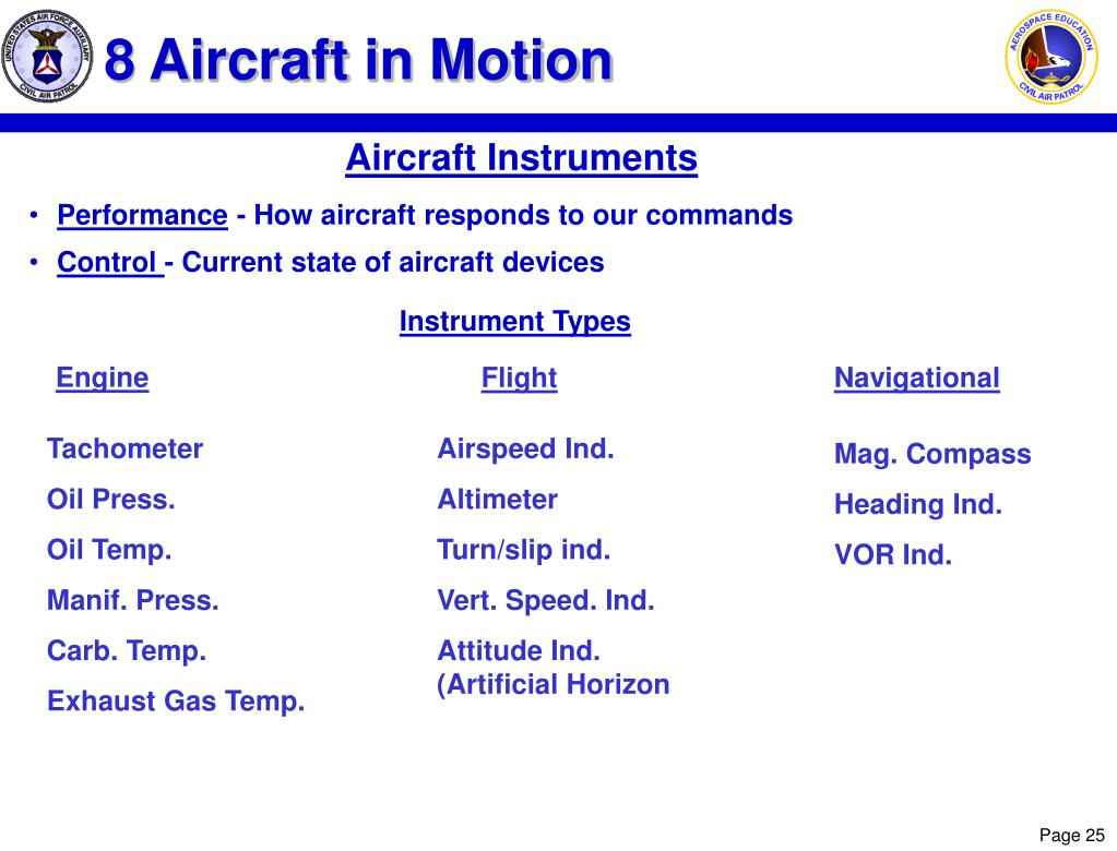 8 Aircraft in Motion