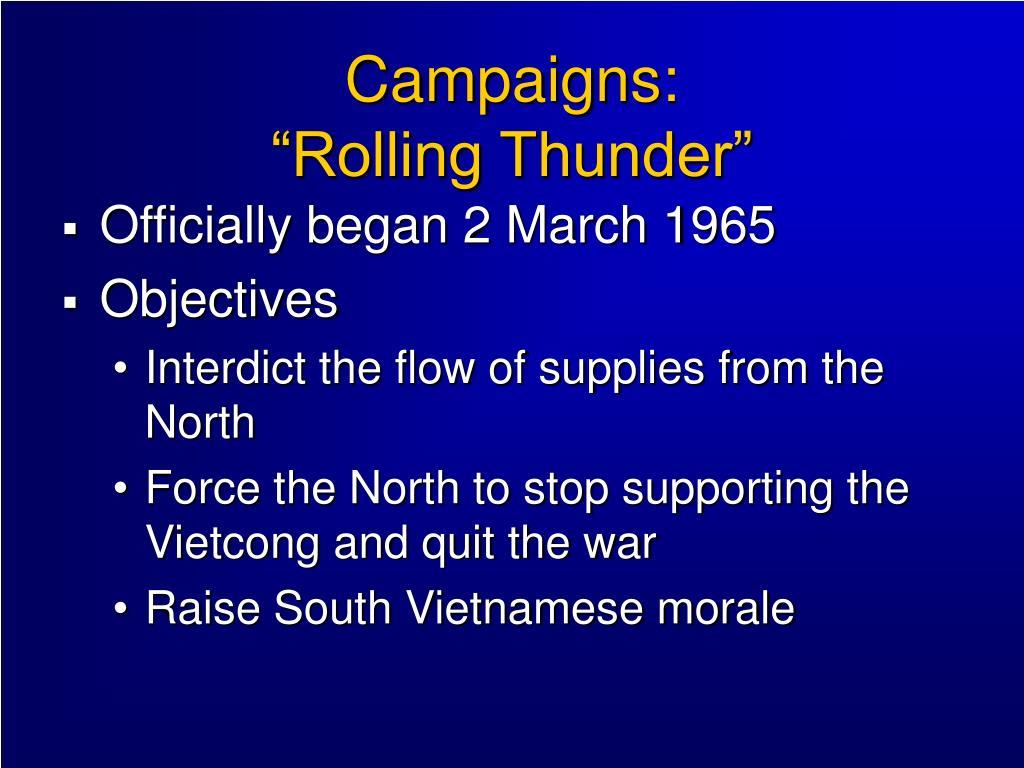 Campaigns: