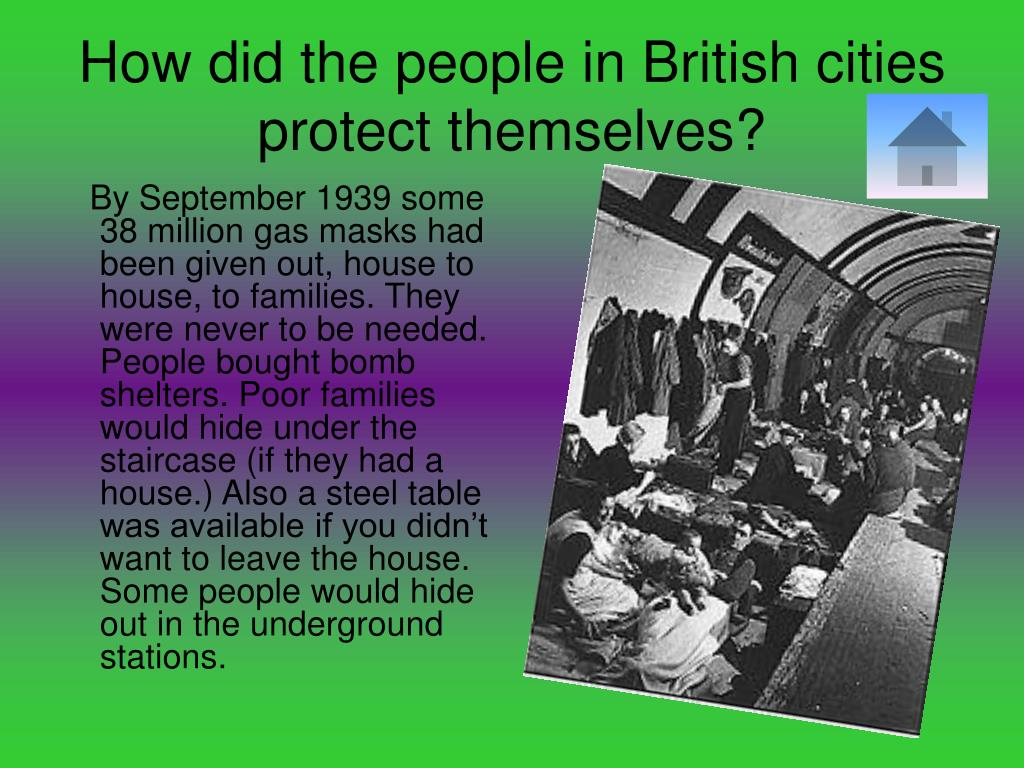 How did the people in British cities protect themselves?