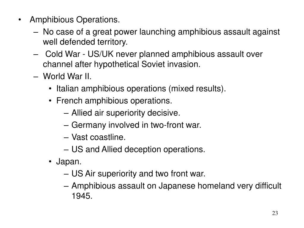 Amphibious Operations.