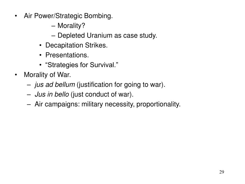 Air Power/Strategic Bombing.