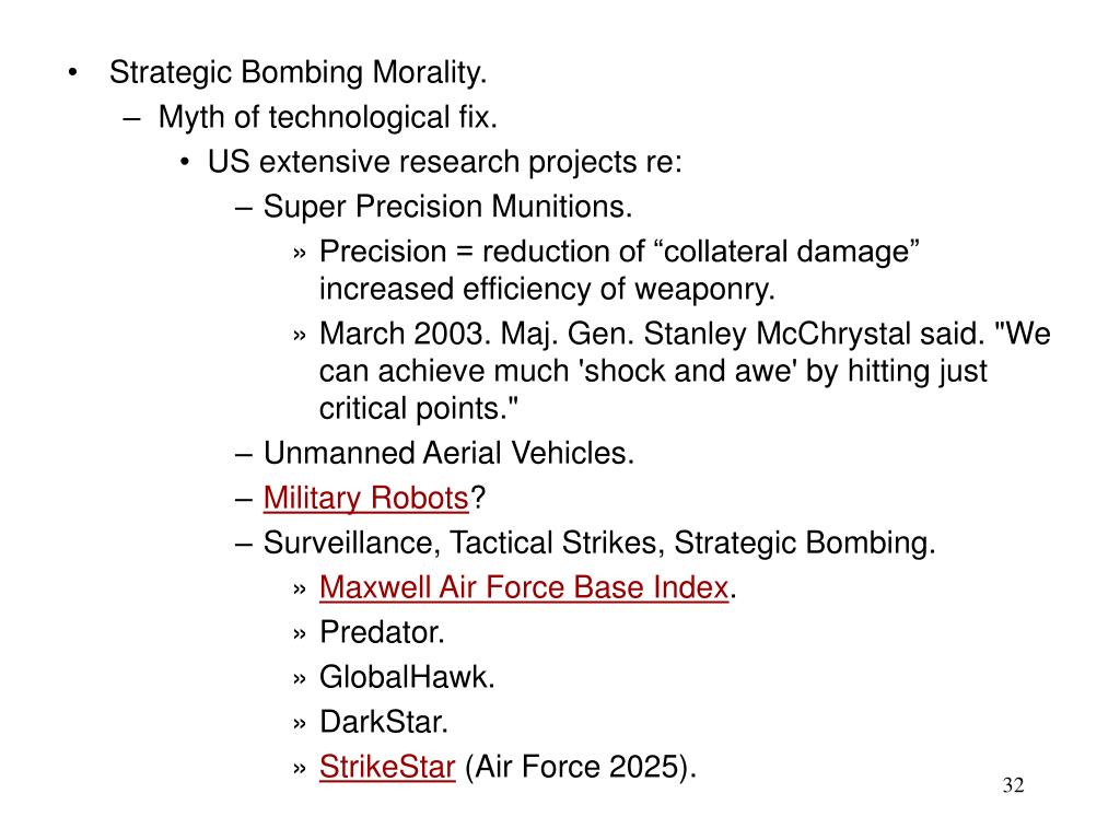 Strategic Bombing Morality.