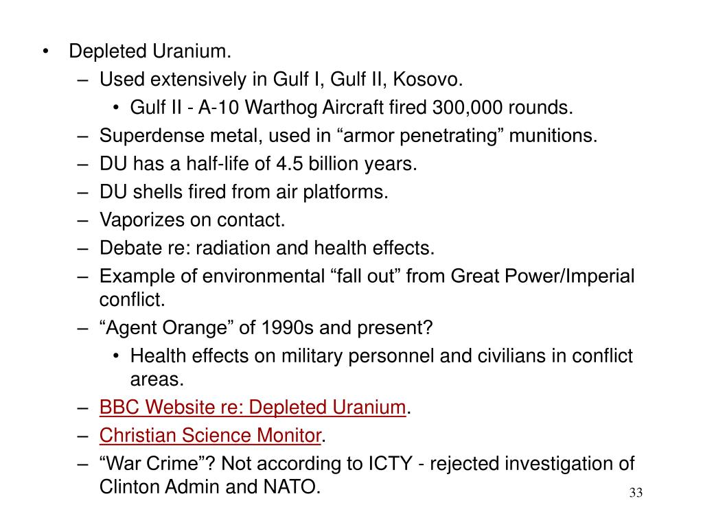 Depleted Uranium.