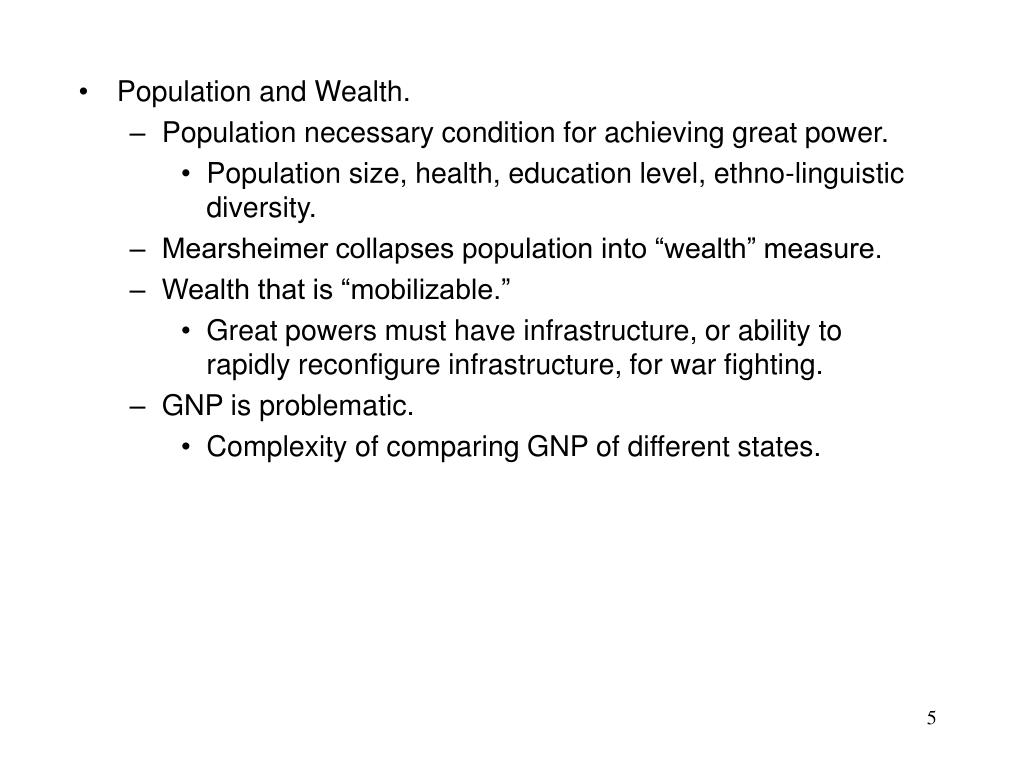 Population and Wealth.