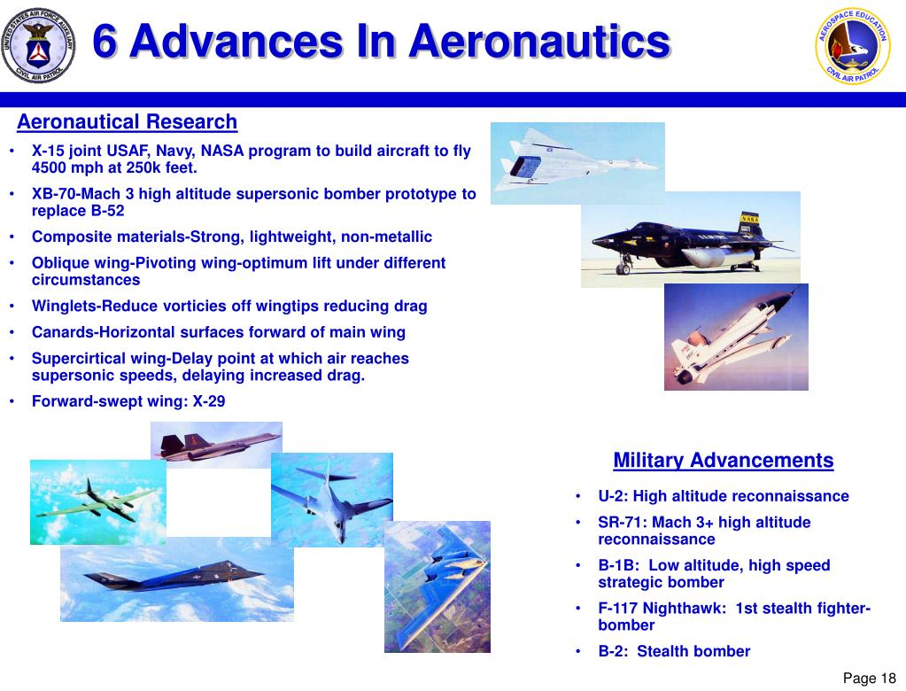 6 Advances In Aeronautics
