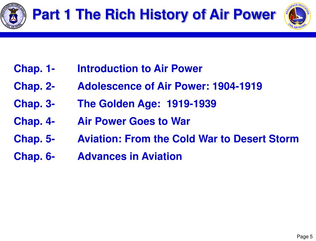 Part 1 The Rich History of Air Power