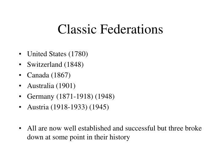 Classic Federations
