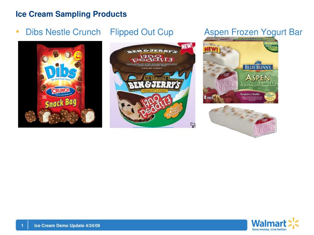 Ice Cream Sampling Products